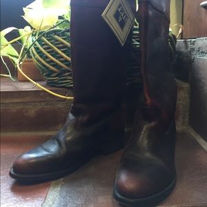FRYE Burgundy Boots, Size 8
